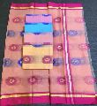 Kota Silk Flower Border Saree