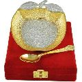 Apple Double Tone Plated Bowl Set