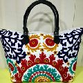 Embroidered Decorative Tote Bag