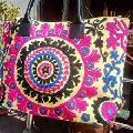 embroidered suzani tote hand bag