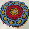 Handmade Embroidered Round Suzani Cushion Cover