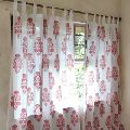 multicolor printed window curtains