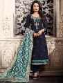 Designer Festival Wear Khatli Work Churidar Suit