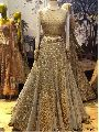 Gold Net Multi Wedding Lehenga Choli