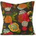 beautiful colors with Kantha Tagai work Cushion Covers