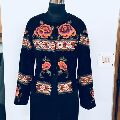 Hand embroidered beaded flower jacket