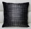 Dotted Art Silver Foiled Cotton Satin Fabric Cushion