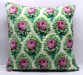 Rose Print Hand Quilted 3D Embossed Cotton Velvet Cushion Cover