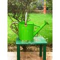 Watering Can in Green with stainless steel spout and handle
