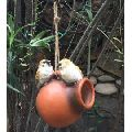 Wonderland Two Birds on a Hanging pot bird house