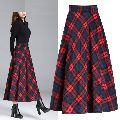 Ladies Checkered Long Skirts