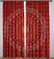 100% Printed Handmade Cotton Window Sheer Voile Curtain