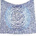 Blue Ombre Mandala Tapestry Hippie Wall Hanging Decor Beach Throw Yoga Mat