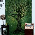 Green Tye Dyed Tree of Life Tapestry