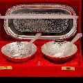 Silver Plated Bowl And Spoon Set