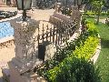 Natural stone railing piers