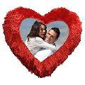Sublimation Heart Photo Cushion