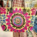 Indian cotton suzani bags handmade embroidered woman shopping hand bag