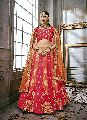 Embroidered Art Silk Anarkali Semi Stiched Lehengas