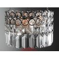 Silver Hanging Crystal Candle Holder