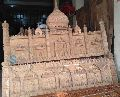 HAND-CARVED TAJMAHAL DESIGN HEADBOARD QUEEN SIZE BED