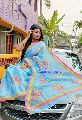 Applique Flower Saree