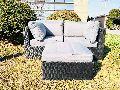 3 Piece Steel Rattan Sofa Set