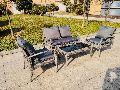 4 Piece Steel Rattan Sofa Set