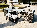 7 Piece Steel Rattan Dining Set