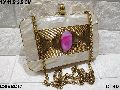 Designer Brass Clutch Bag