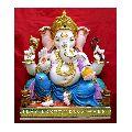 Multicolor Ganesh Marble Statue