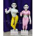 Multicolor  Radha Krishna Marble Statue