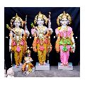 Multicolor Ram Darbar Marble Statue