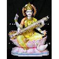 Multicolor Saraswati Marble Statue