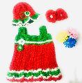Crochet Baby Girl Dress with Booties