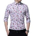 Mens Linen Printed Shirt