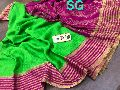 Mysore wrinkle crepe Silk Saree