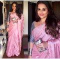 Pink Plain Linen Saree