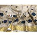 Golden Tissue Linen Saree