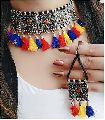 metalic Choker Necklace Set