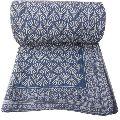 Indigo Hand Block Printed Quilt