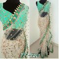 Embroidery Net Saree