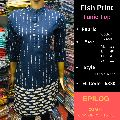 EPILOG Fish Print Tunic Top