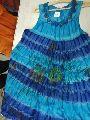 Ladies Rayon Blue Dress