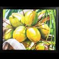 Coconut Wall Decor Canvas Oil Painting