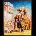Elephant Wall Decor Canvas Oil Painting