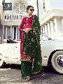 Pink Satin Georgette Designer Palazzo Suit