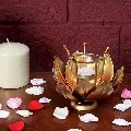 Golden Lotus Artwork Table Top Home Decor