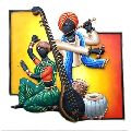 Iron Musician Wall Hanging