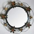 Round Iron Wall Mirror